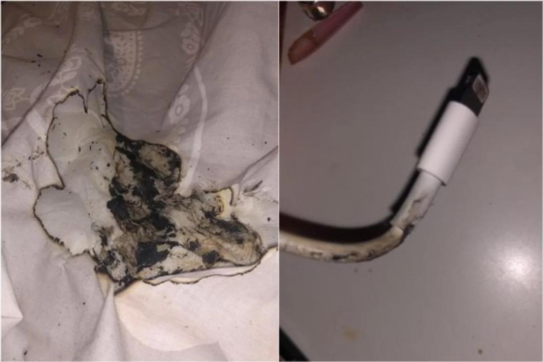 Bộ sạc iPhone bốc cháy khiến một cô gái Anh bị bỏng - iPhone