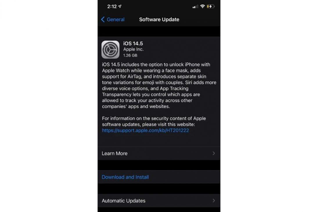 Apple phát hành iOS 14.5 cho mở khóa ngay cả khi đeo khẩu trang - 2 21