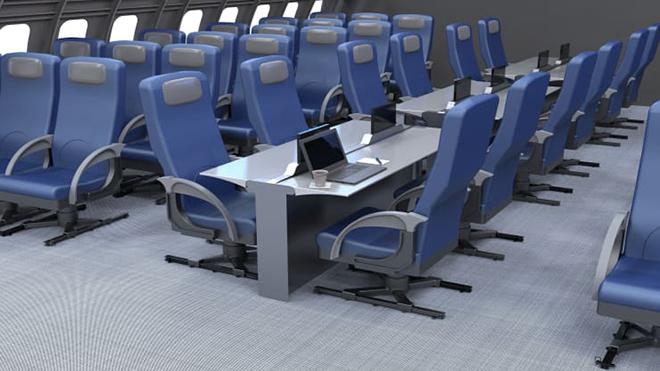 Chiêm ngưỡng ghế ngồi độc đáo của máy bay trong tương lai - 2 5