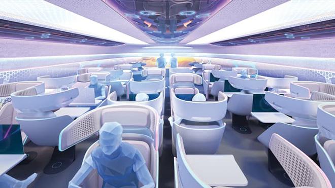 Chiêm ngưỡng ghế ngồi độc đáo của máy bay trong tương lai - 3 2