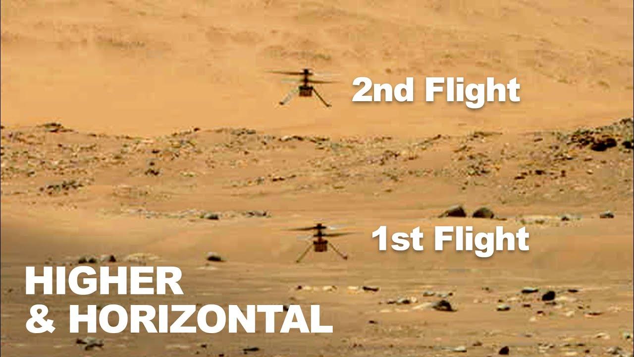 Trực thăng Ingenuity nhỏ của NASA cất cánh lần 2 trên sao Hỏa, thành công bất ngờ - Ingenuity 1 1