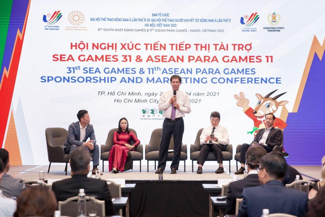 Bia Việt trở thành nhà tài chính của SEA Games 31 và PARA Games 11 - Ong Tran Duc Phan phat bieu tai Hoi nghi