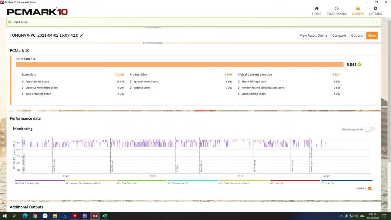 Intel Core i5-11600K: Hiệu suất cải thiện đáng kể trên mọi trải nghiệm - PCMark10 VGAon