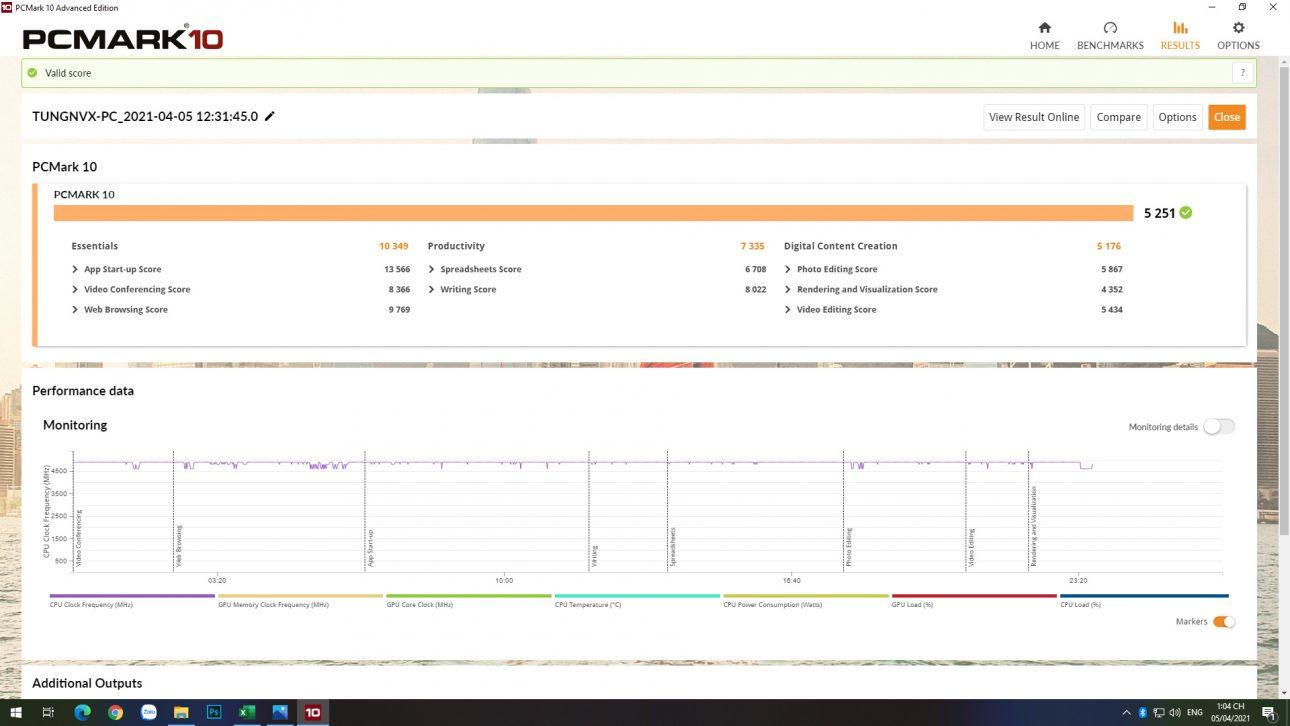 Intel Core i5-11600K: Hiệu suất cải thiện đáng kể trên mọi trải nghiệm - PCMark10 VGAonAIOC