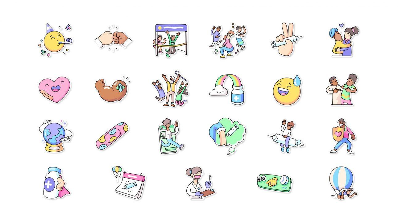 WhatsApp hợp tác WHO tung bộ sticker mới khuyến khích tiêm chủng vaccine Covid-19 - WhatsApp 3