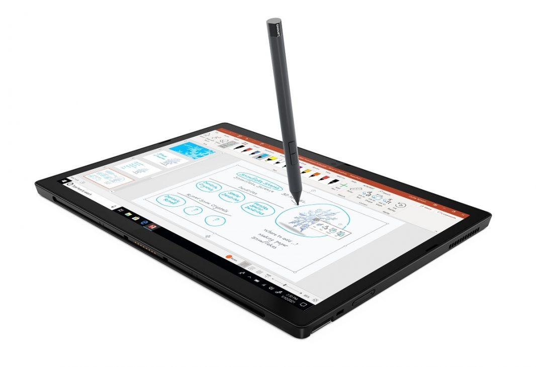 Tablet cao cấp ThinkPad X12 Detachable kèm bàn phím rời cho doanh nhân - 05 Thinkpad X12 Screen Hero Front Facing Right edited