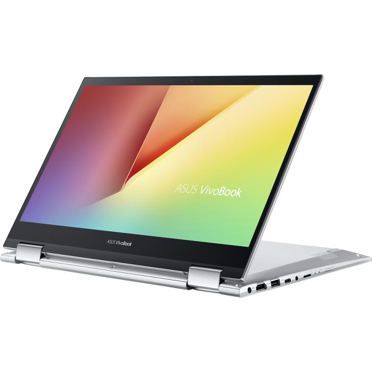 VivoBook Flip 14 TP470: laptop xoay gập, màn hình cảm ứng dành cho giới trẻ, giá từ 14,9 triệu đồng - ASUS TP470 Product photo  2S Transparent Silver 20