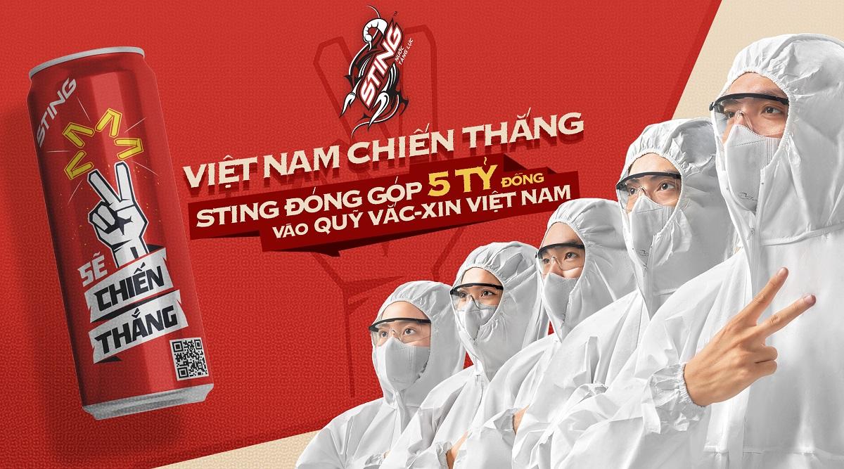 """Suntory PepsiCo đóng góp 5 tỷ đồng vào Quỹ vaccine và khởi động """"Sting - Sẽ Chiến Thắng"""" - Sting phien ban lon cao gioi han Se Chien Thang lan toa niem tin Viet Nam se chien thang dai dich"""