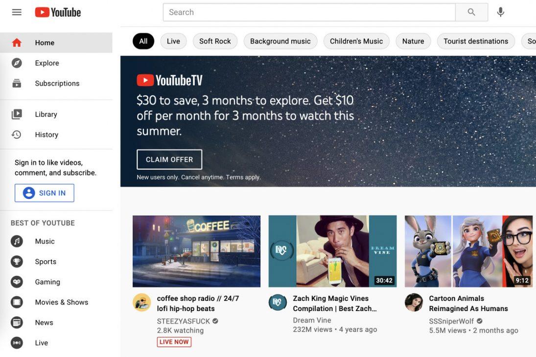 YouTube cấm quảng cáo rượu, cá cược, chính trị, nói phóng đại... trên vị trí trang chủ - YouTube