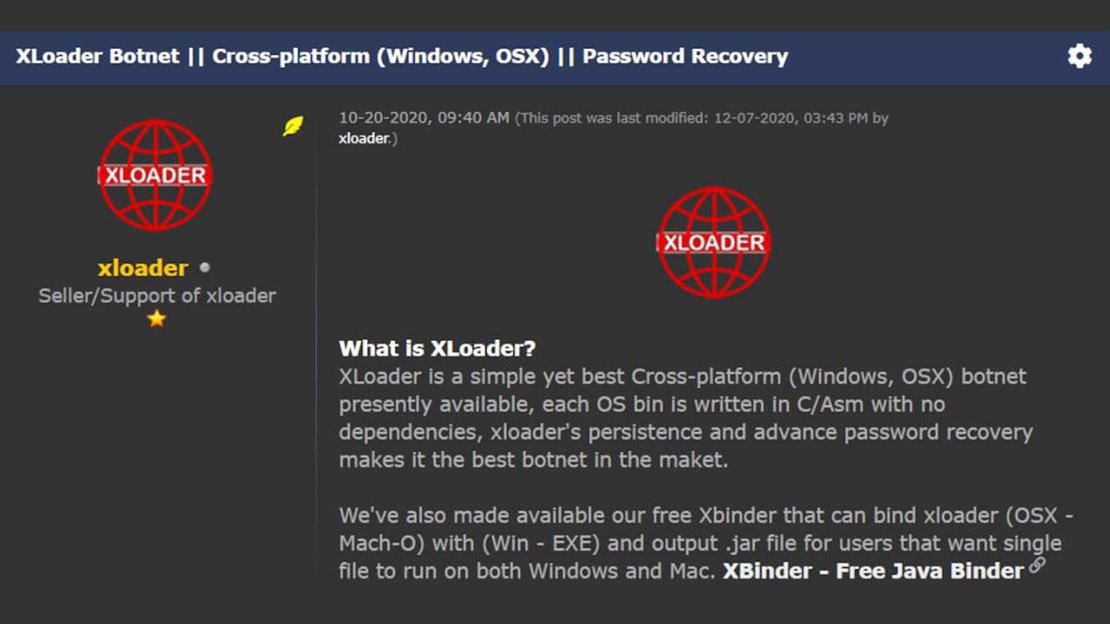 Phần mềm độc hại khét tiếng XLoader tấn công mở rộng sang máy Mac - 1621