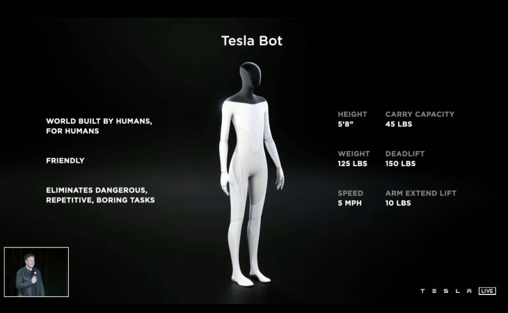 CEO Elon hứa sẽ ra mắt robot Tesla Bot trông giống như người vào năm tới - 2