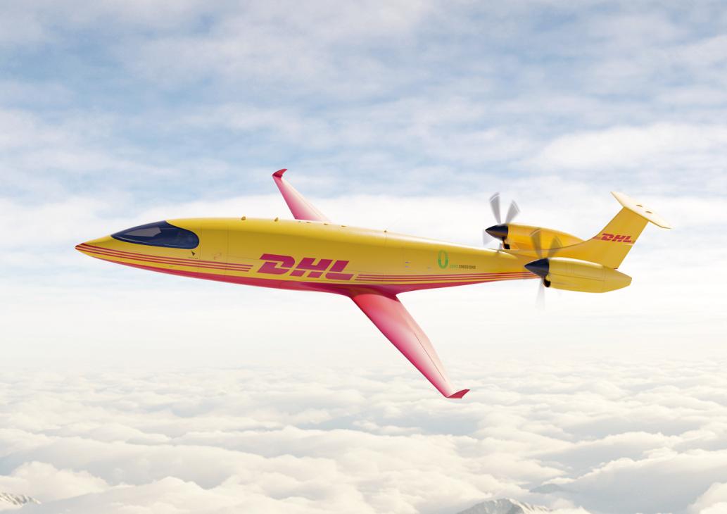 DHL Express đặt mua 12 máy bay điện để chuyển phát nhanh - 4 DHL Eviation Alice sky side