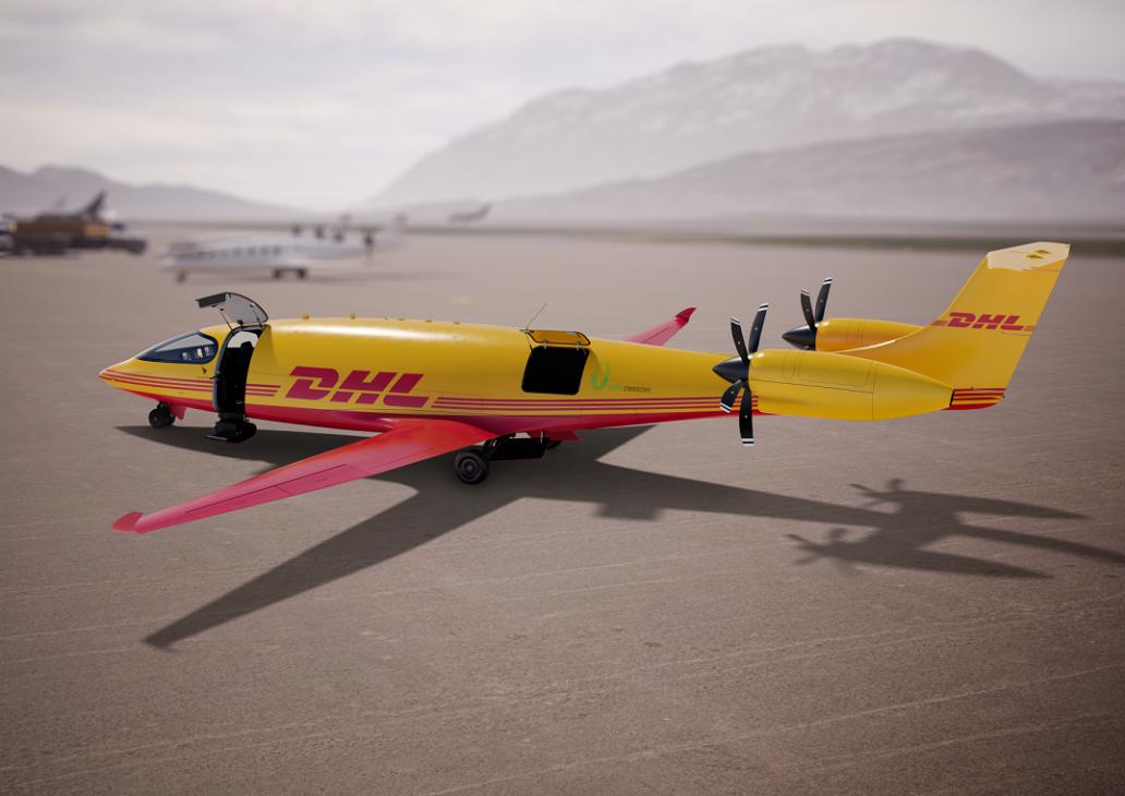 DHL Express đặt mua 12 máy bay điện để chuyển phát nhanh - 5 DHL Eviation Alice apron