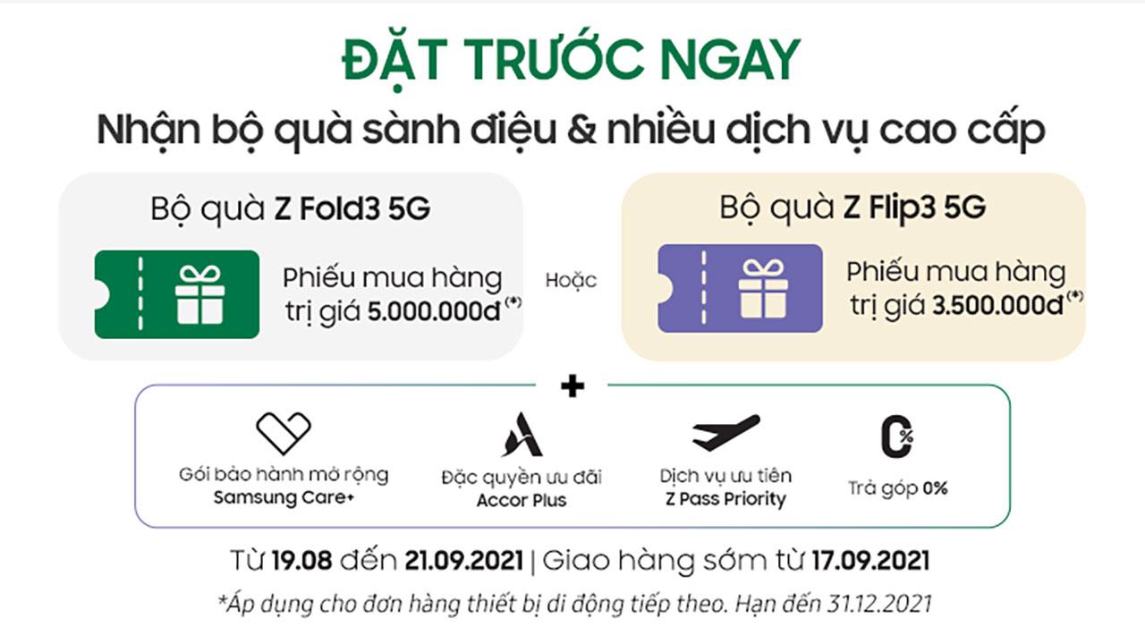 Samsung Việt Nam mở bán Galaxy Z Fold3 5G và Z Flip3 5G kèm ưu đãi đặc quyền cao cấp -