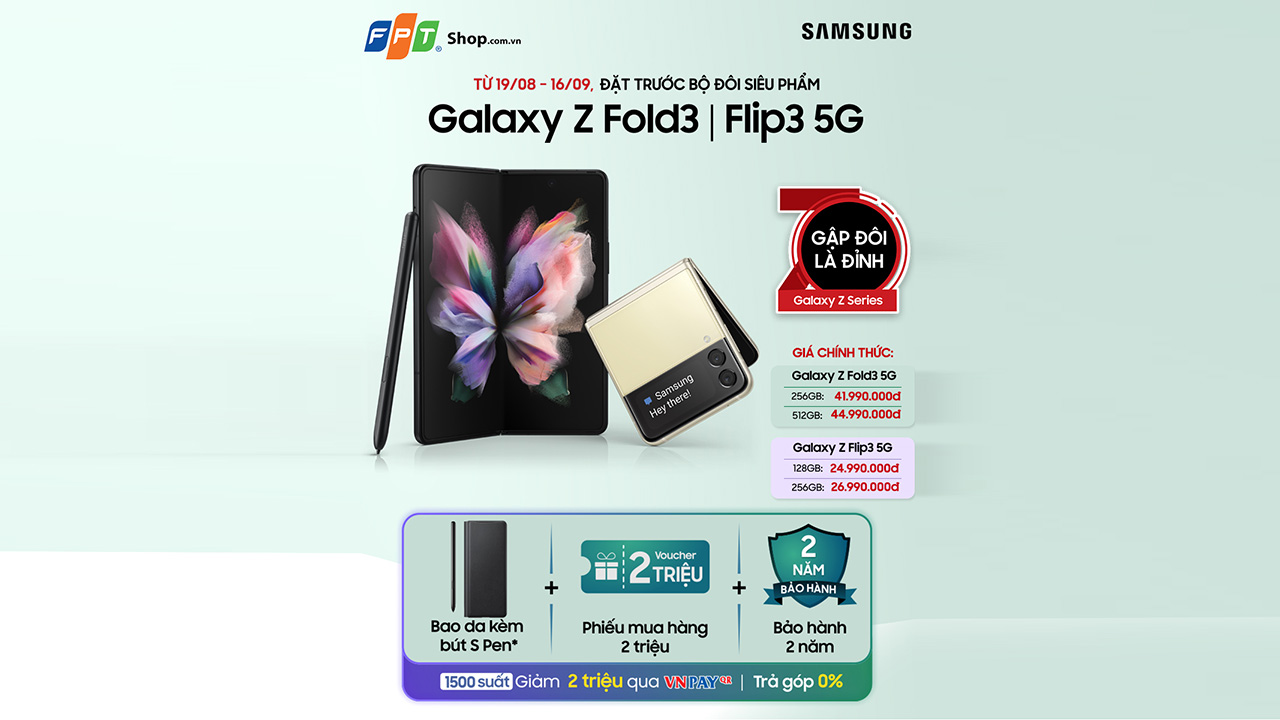 Các nhà bán lẻ điều chỉnh giá bán bộ đôi smartphone màn hình gập Samsung Galaxy Z thế hệ 3 - Z Fold Flip 3 DatTruoc POST 1 1
