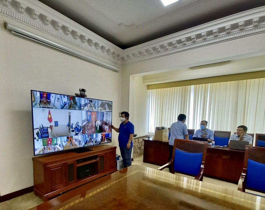 Lễ kỷ niệm Quốc khánh 2/9 tổ chức trực tuyến, VNPT triển khai kết nối - VNPT trien khai ket noi diem cau tai Van phong Chinh phu