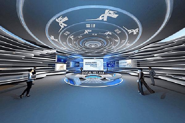 Hội nghị và Triển lãm Thế Giới Số 2021 chính thức khai mạc tại Việt Nam - gian hang viet nam tai itu digital world the hien mot viet nam kien cuong 1